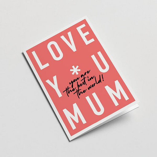 Footnote Card - Mother's Day card | Kin & Co, Abersoch, Graphic Factory