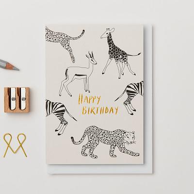 Kinshipped Leopard Happy Birthday