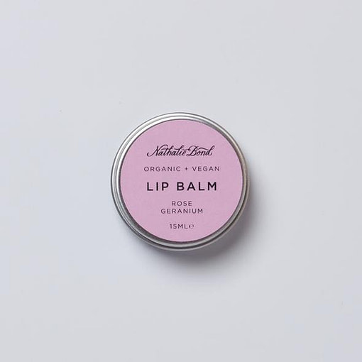 Nathalie Bond rose geranium lip balm