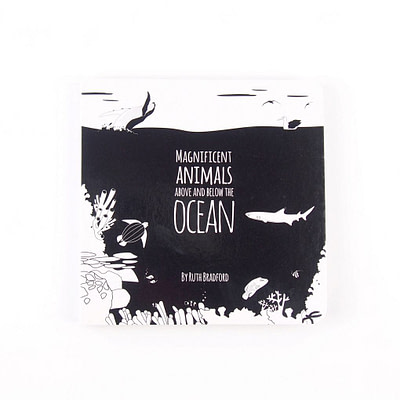 The Little Black & White Book Project, Baby book - Ocean Animals