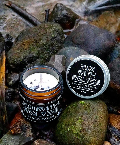 Buy Black Moon 60ml candleby Run with Wolves from Kin & Co Abersoch