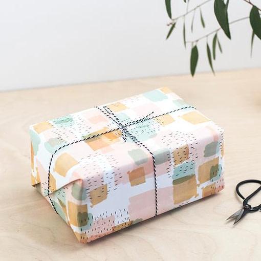 Plewsy brushstroke Gift Wrap