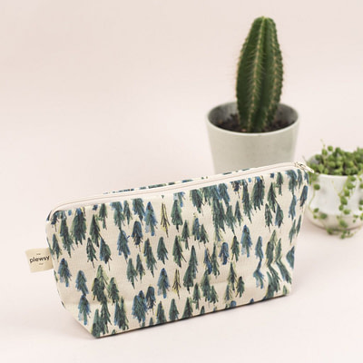 Plewsy Forest Cotton Cosmetic Bag