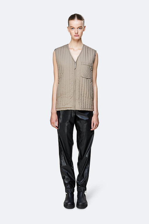 Buy the Taupe, Rains Liner Vest from Kin & Co, Abersoch