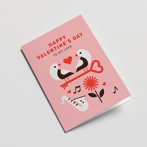 to my love valentine's card