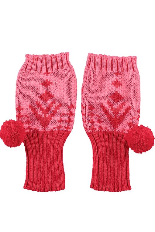 pink alpine fingerless gloves