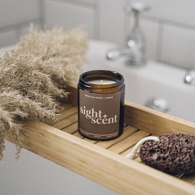 Buy the Fresh Hay, Honey & Amber candle by Sight & Scent from Kin & Co, Abersoch