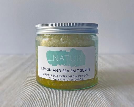 natur lemon salt scrub