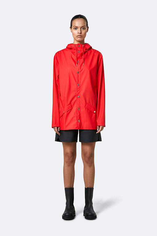 rains jacket red