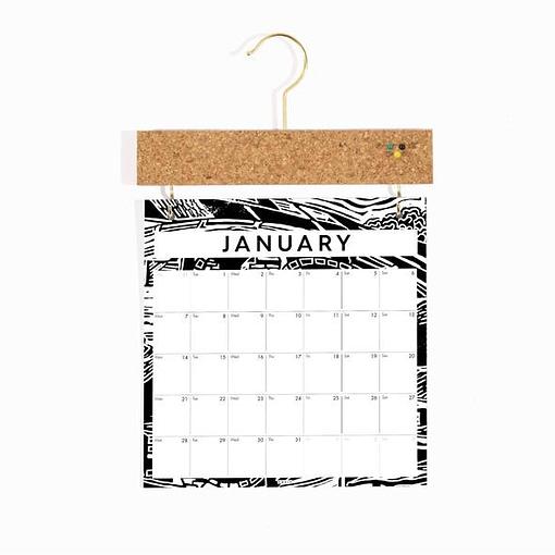 Studio Wald 2021 Pinboard Calendar