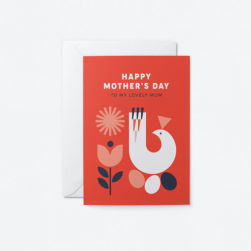 Lovely Mum - Mother's Day card, Graphic Factory