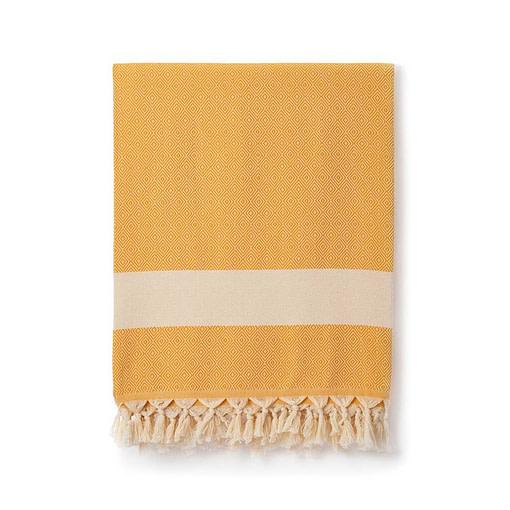 damla mustard blanket