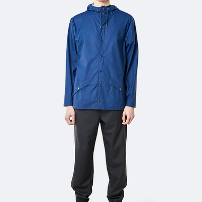 rains jacket true blue