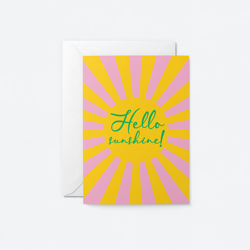 hello sunshine greetings card