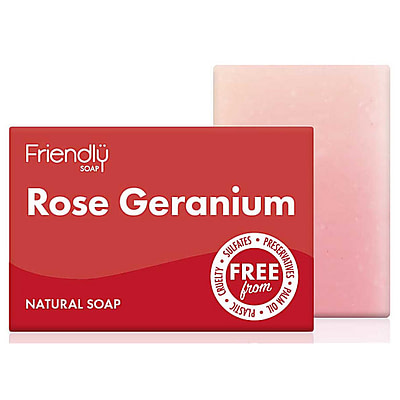 Friendly soap rose geranium