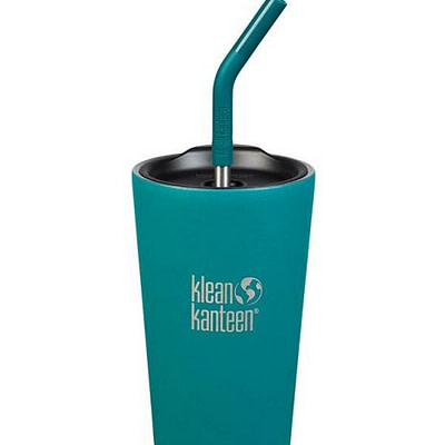 Klean Kanteen Insulated Tumbler Straw Lid - w/ Straw 473ml - Emerald Bay