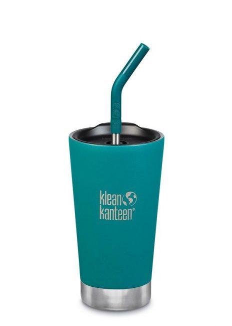 Klean Kanteen Insulated Tumbler Straw Lid - w/ Straw 473ml - Emerald Bay
