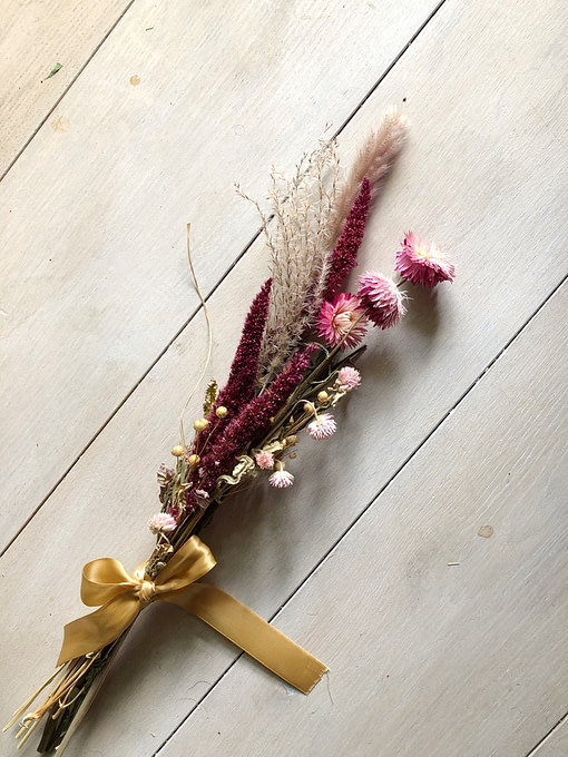 dried flowers mini bouquet