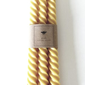 Trio of twisted taper candles from Purah | Kin & Co , Abersoch