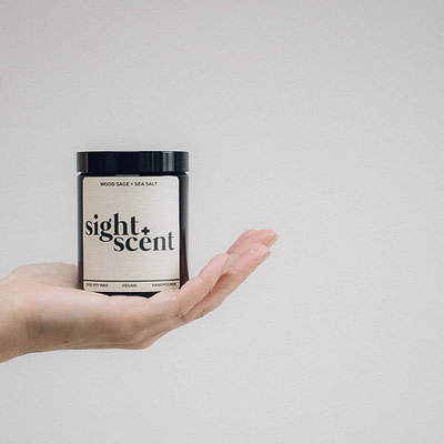 Wood Sage & Sea Salt candle by Sight & Scent.
