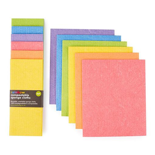rainbow sponge cloths