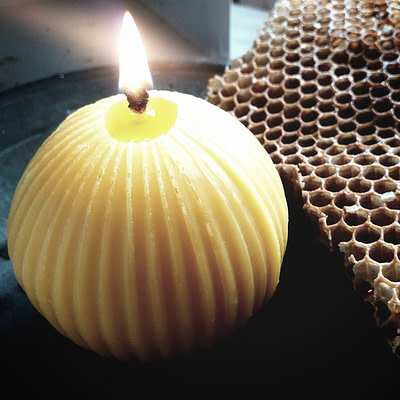 Buy the handmade Welsh Winter Beeswax Candle from Purah | Kin & Co , Abersoch
