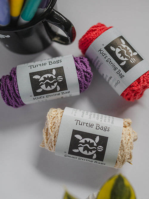 Buy the Turtle Bags,Organic Kids String Bag from Kin & Co, Abersoch