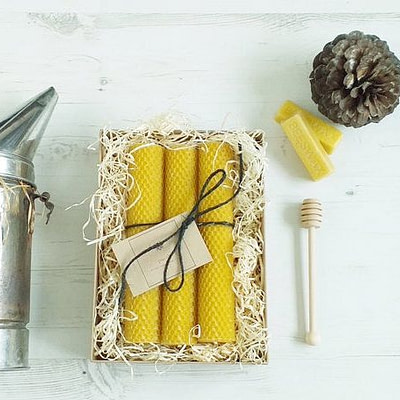 Buy The Trio of Large Hand Rolled Candles from Purah at Kin & Co, Abersoch