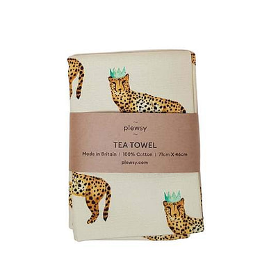 Plewsy Cheetah Tea Towel